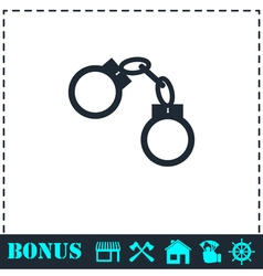 Handcuffs icon flat vector image