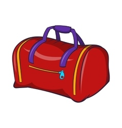 Red sports bag icon cartoon style vector image