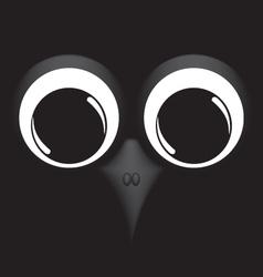 Bird on black background vector image vector image