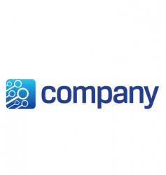 connection cloud logo vector image