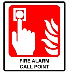 Fire alarm call point symbol Emergency vector image vector image