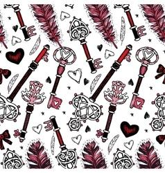 Romantic seamless pattern Valentine day vector image