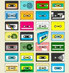 Audio Cassette Tape Wallpaper vector image