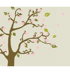 Eastern nature cherry blossom tree vector image vector image