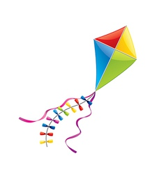 flying kite isolated vector image vector image