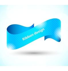 Ribbon design vector image
