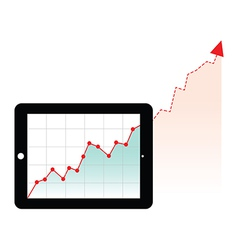 tablet graph growth vector image