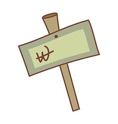 A signpost vector