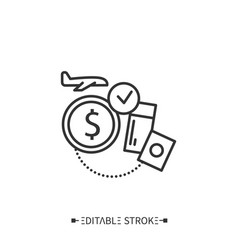 Accessible tourism line iconeditable vector