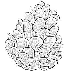 Adult coloring bookpage a cute cone vector