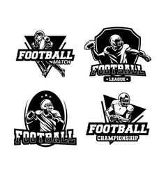 American football competition set badge or emblem vector