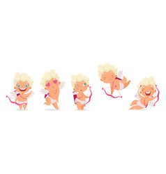 amur babies funny cupid little angels or god vector image