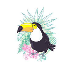 an of a nice toucan in format a cute toucan bird vector image