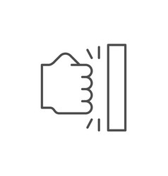 Anger icon or fist punch symbol vector