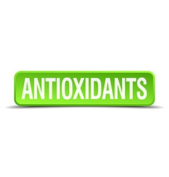Antioxidants green 3d realistic square isolated vector