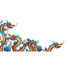 background with chinese dragons vector image