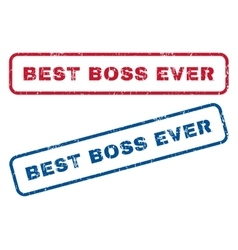 Best Boss Ever Rubber Stamps vector image