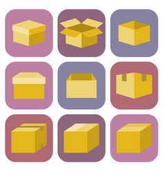 Box icon in flat style vector