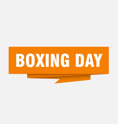 boxing day vector image