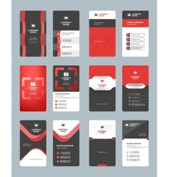 Business card templates Stationery design vector