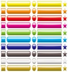 Button collection rainbow vector