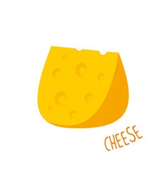 Cheese isolated vector
