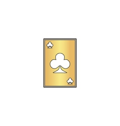 Clubs card computer symbol vector image