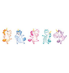 colorful isolated cute and happy vector image