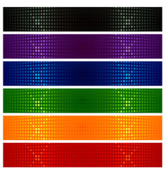 colorful modern banners vector image