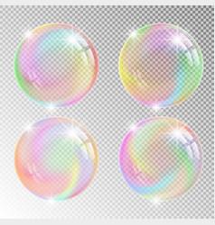 Colorful soap bubbles vector