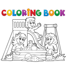 Coloring book playground theme 1 vector