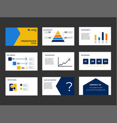 Company presentation and pitch deck investment vector