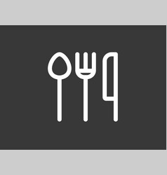 cutlery icon sign symbol vector image