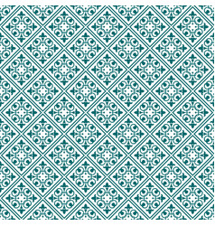 Cyan damask seamless pattern backdrop vector