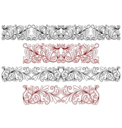 Decorative ornaments and borders vector image