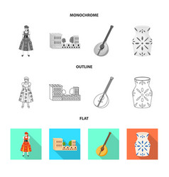 Design and historic icon set and vector