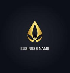 droplet cannabis oil logo vector image