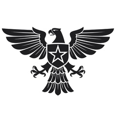 Eagle and star coat arms vector