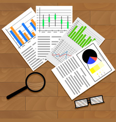 economic data graphics and charts vector image