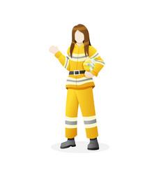 Female firefighter vector