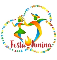 Festa Junina dancers man and woman vector