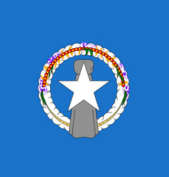 Flag northern mariana islands flat style vector