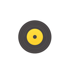 flat retro vintage vinyl record music audio vector image