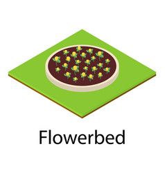 flowerbed icon isometric style vector image