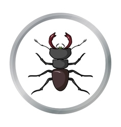 Forest red ant icon in cartoon style isolated on vector image