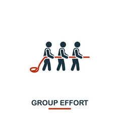 Group effort icon premium style design from vector
