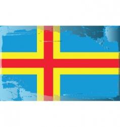 grunge flag vector image