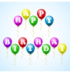 happy birthday celebration balloons vector image