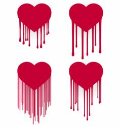 heart drips vector image