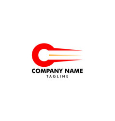 initial letter c fast logo concept vector image